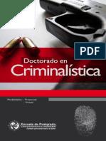 Doctorado en Criminalistica