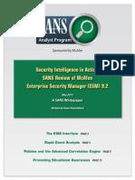 Sans Enterprise Security Manager