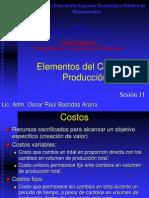 Sesión 11, 12 y 13 Elementos de Los Costos de Producción y Margen de Utilidad