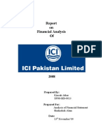 Report on Financial Analysis of ICI Pakistan Limited 2008[1]