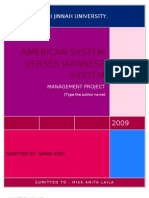 Management Project Japanese vs American