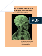 Anatomy Solved Papers 2009 to 2013
