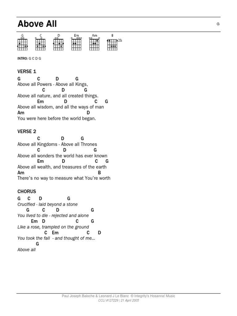 Gospel Songs Guitar Tabs Song Structure Mercy