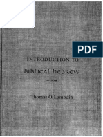 Pedrotti - Biblical Hebrew - A Text and Workbook