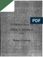 Introduction to Biblical Hebrew Thomas Lambdin