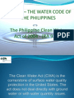 PD 1067 Water Code of the Philippines and Clean Water Act