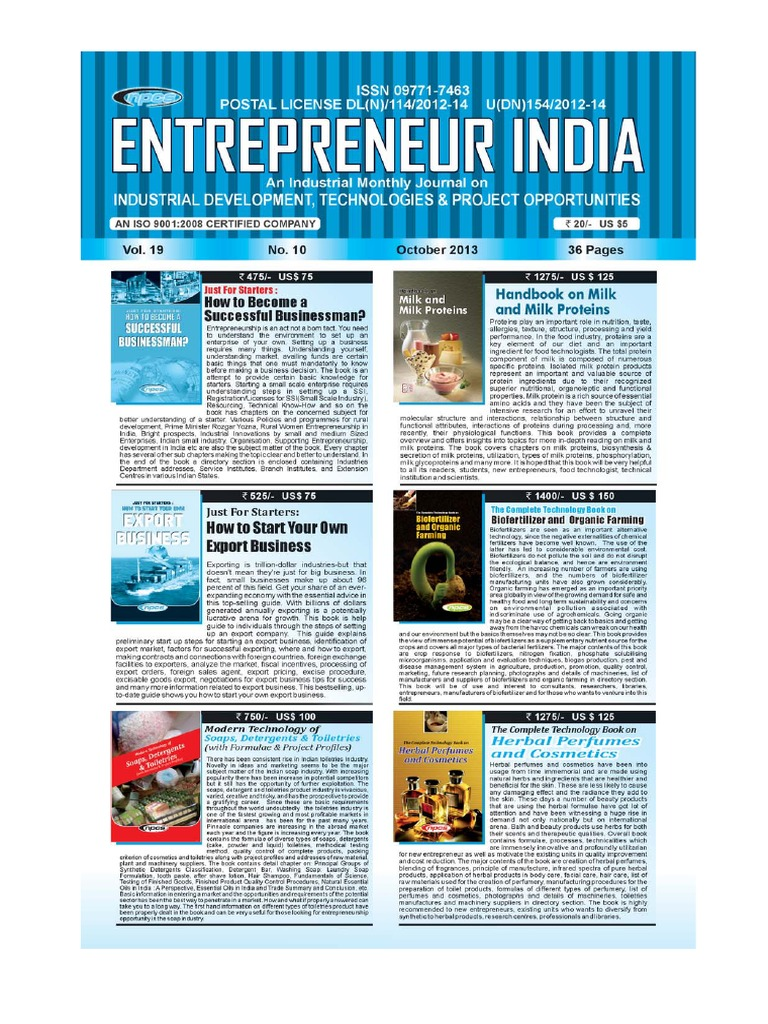 Entrepreneur India Magazine October 2013 | Plastic | Herbalism