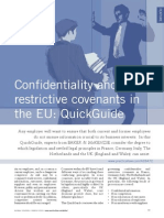 Confidentiality and Restrictive Covenants in the EU - A Quick Guide
