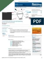 Curso Online de Dirección de Marketing