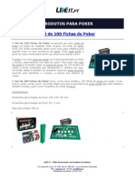 Set de 100 Fichas de Poker