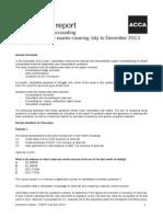 ACCA F3 Jan 2014 Examiner Report