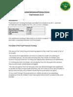 Hoyland Springwood Primary School PPG Propsed Spend 14-15