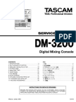 Tascam DM-3200 Service Manual
