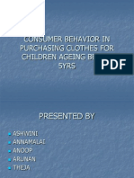Consumer Behaviour in Purchasing Clothes for Children Ageing
