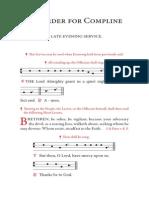 Sung Compline Booklet