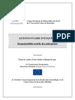 Centre Perelman de Philosophie Du Droit - Questionnaire RSE II