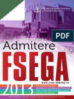 brosura admitere FSEGA
