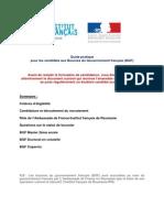 Guide Pratique Pour Les Candidats Aux BGF