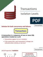 Transactions Isolation