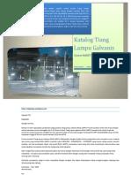 Daftar Harga & Katalog Tiang Lampu PJU Oktagonal Galvanis 2014
