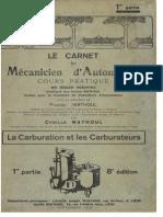 C.wathoul - La Carburation Et Les Carburateurs (P1)
