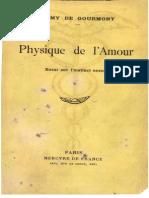 R.de Gourmont - Physique de l'Amour