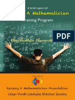 Raising A Mathematician Program Report