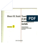 Teoria Si Practica Investigatiilor Sociale. Cercetari Interdisciplinare Zonale, București. Editura Stiintifica Si Enciclopedica, 1975