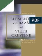 Elemente de Baza Ale Vietii Crestine- Vol 2