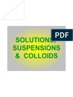 Solutions, Suspensions and Colloids