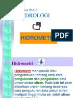 Kuliah Hidrologi 6 Hidrometri