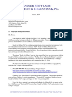 Copyright Infringement Notice Letter
