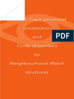 NW Standard Constitution - Western Cape