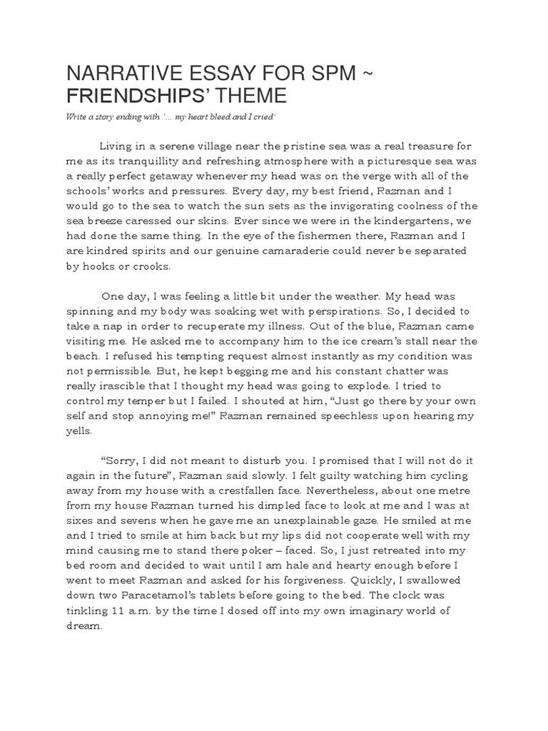 nature essay example spm