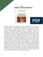 Epitteto Diatribe e Frammenti