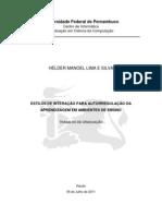 Estilo de interação para autorregulação da aprendizagem em ambiente de ensino