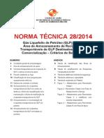 Nt 28_2014 PARTE II Gas Liquefeito de Petroleo Parte 2_armazenamento de Recipiente Transportavel de Glp