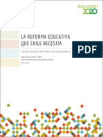 La Reforma Educativa Que Chile Necesita 2014