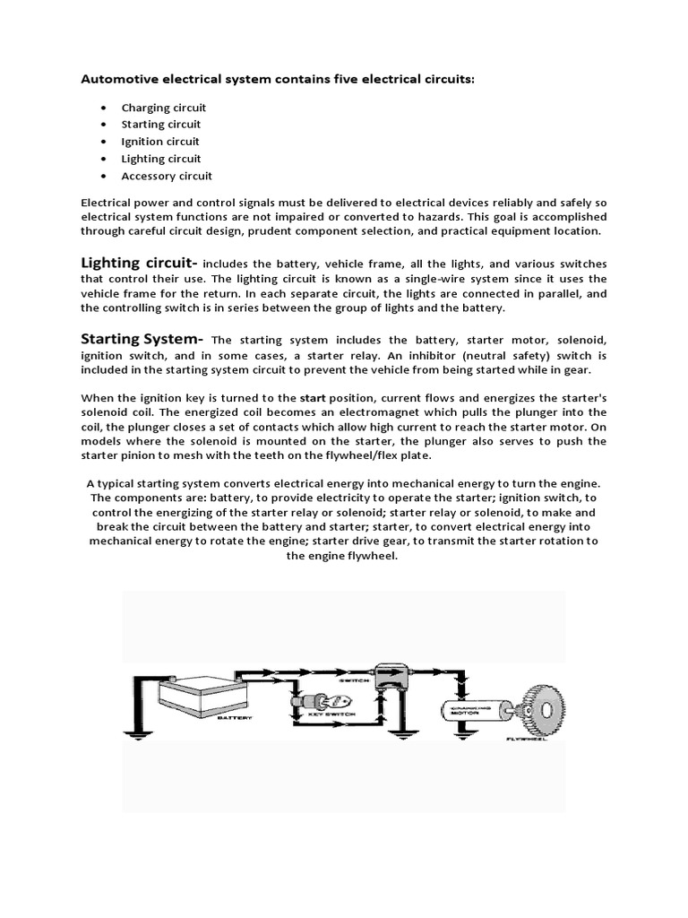 Auto Elec Relay Ignition System Electricity How Do Switches Control Lamps In A Series Circuit