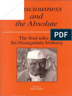 Consciousness and the Absolute by Sri Sadguru Nisargadatta Maharaj