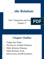Chapter 17- Public Relations