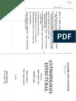 Claude Levi Strauss. Antropologia Estrutural- Estrutura Dos Mitos