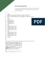 Export Menjadi File Excel Dari Aplikasi