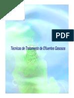 Técnicas de Tratamento de Efluentes Gasosos