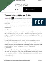 The Teachings of Warren Buffet