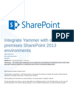 Lead With Yammer for SharePoint 2013 on Premises