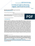Sexuality - a Critical Link to Poverty and Food Security