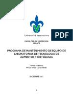 Programa de Mantenimiento Lab