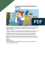 Salen a La Luz Imágenes Del Encuentro Entre Los Simpson y Family Guy