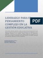 Liderazgo Para El Pensamiento Complejo en La Gestión Educativa
